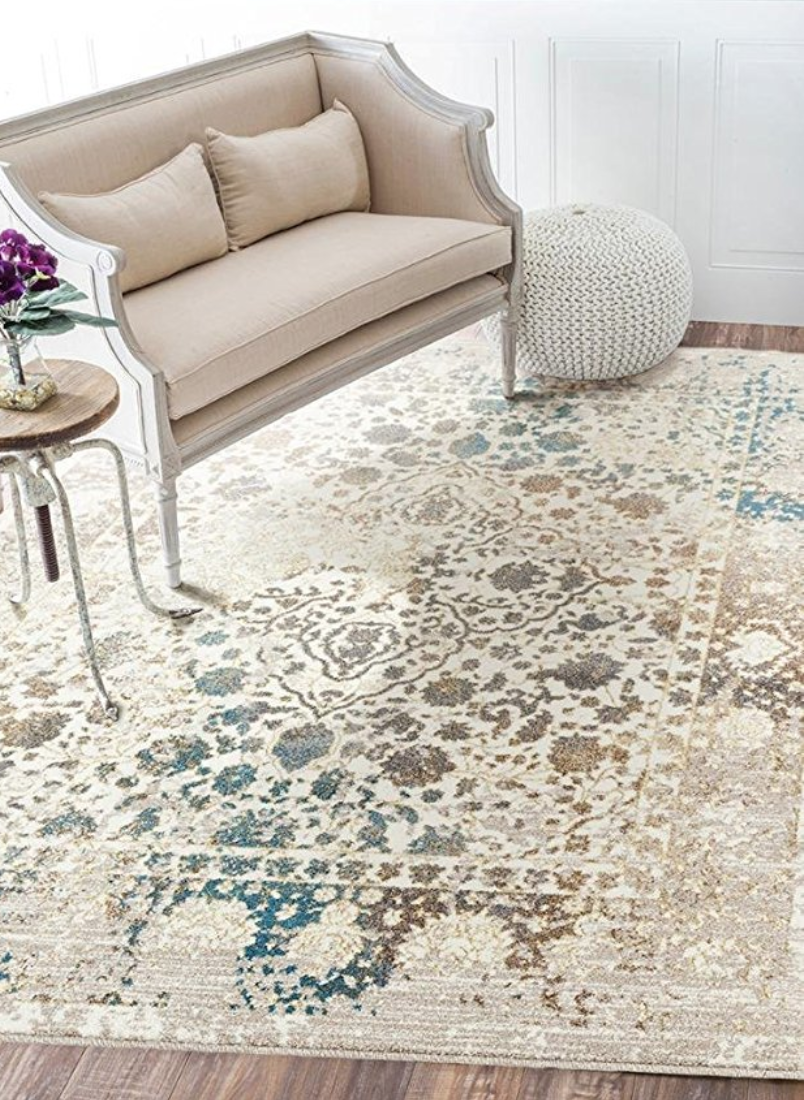 6495 Distressed Cream 5 X 7 Area Rug Carpet Large Rugs On