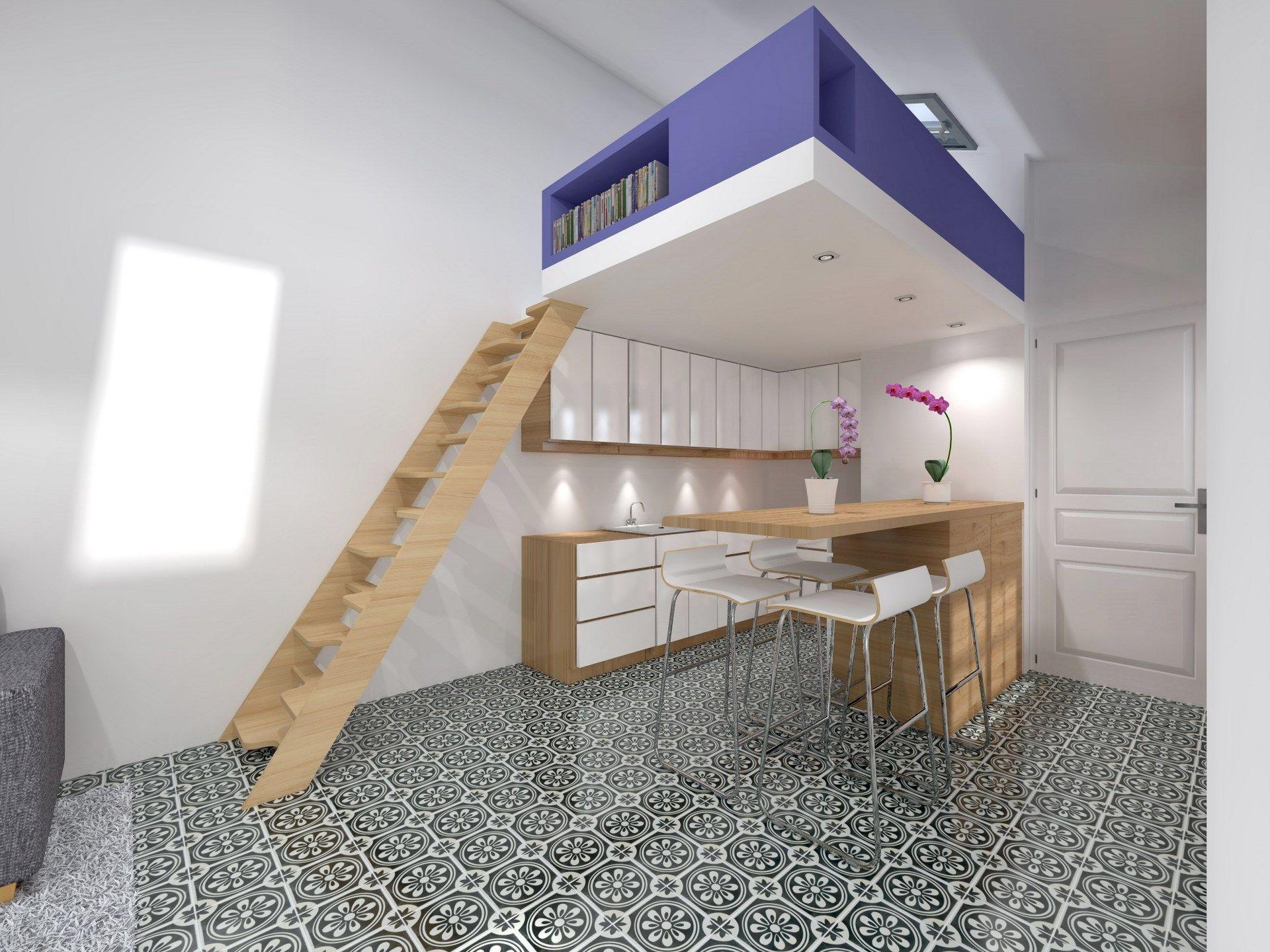 Surelevation mezzanine cuisine ouverte agence avous duplex combles pinterest small - Kind mezzanine kantoor ...