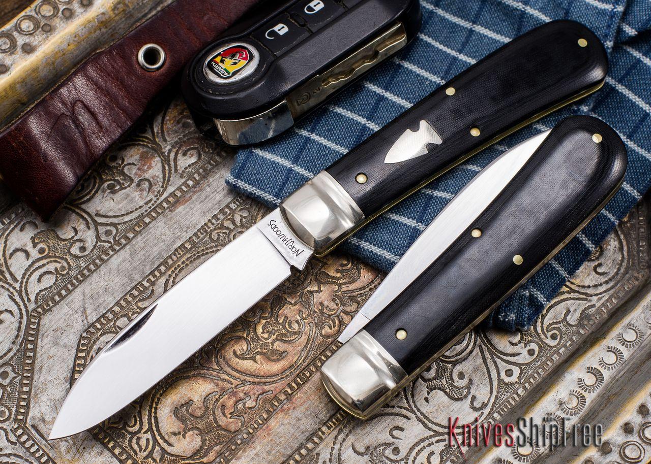 Northwoods Knives: Esky Zulu - Black Linen Micarta  $129.95