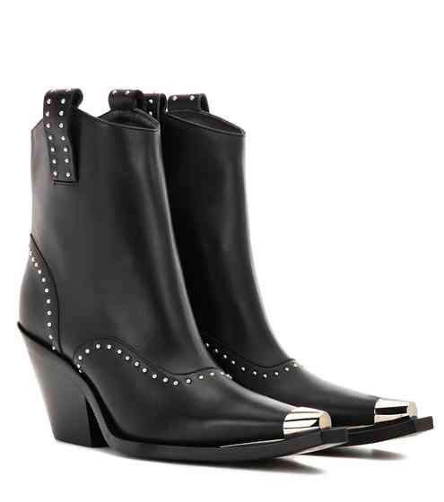 Studded Leather Cowboy BootsGivenchy Rnk701D