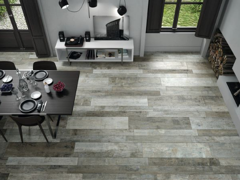 Distressed Rustic Weathered Wood Effect Open Plan Flooring Wood Effect Porcelain Tiles Flooring Wood Look Tile