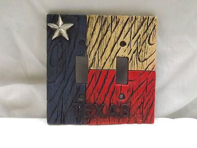 decorative texas plates   Western Decor Texas State Flag Star ...