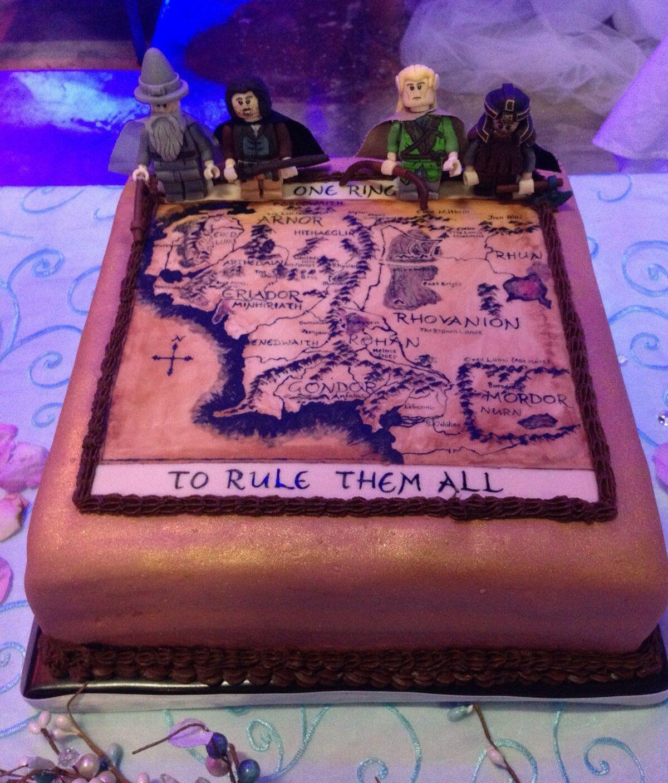 Lord of the Rings LEGO Groom\'s Cake - Hazelnut coffee caramel cake ...