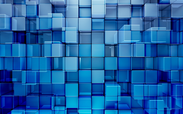 Download Wallpapers Cubes Art Blue Background 3d Art Creative Squares Besthqwallpapers Com In 2020 Cool Desktop Wallpapers Abstract Wallpaper Design Abstract