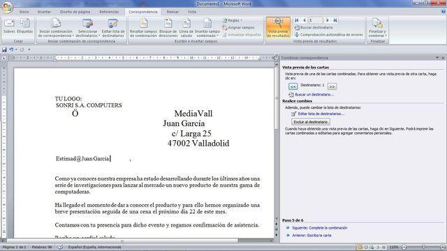 Aprende Combinar Correspondencia En Excel Y Word Aprendida Cartas Vistas
