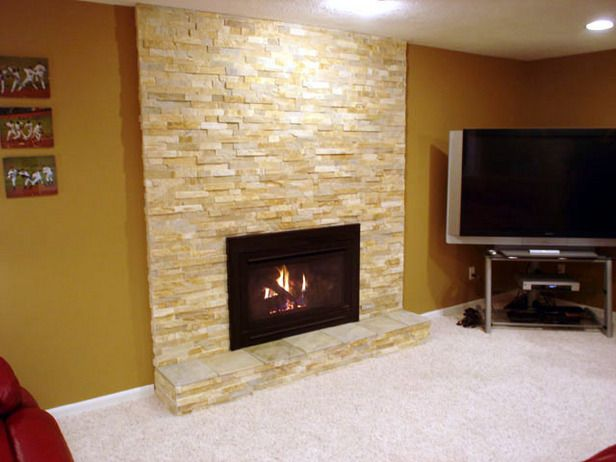 fireplace surround design ideas | How To Give a Fireplace a Stone ...
