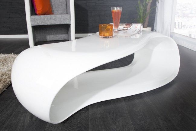 Couchtisch STREAM weiss Hochglanz 115 cm | Möbel | Couchtisch weiß ...