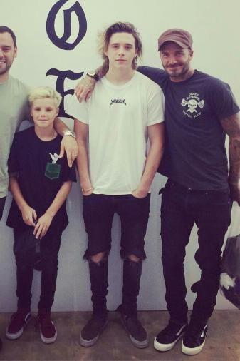 Brooklyn Beckham wearing Kanye West Yeezus Glastonbury T-Shirt