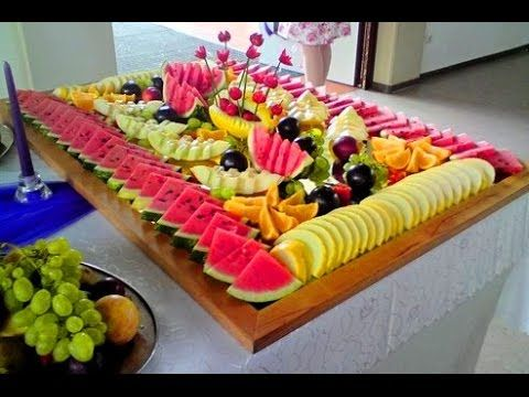 10 fruit decoration idea for wedding day fruit - How to slice strawberries for decoration ...