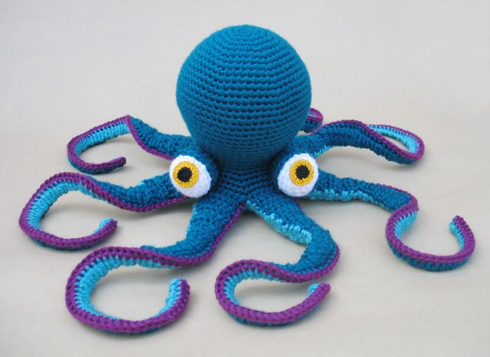 Easy Amigurumi Octopus : Hector the octopus has a hat cute crochet amigurumi stuffed