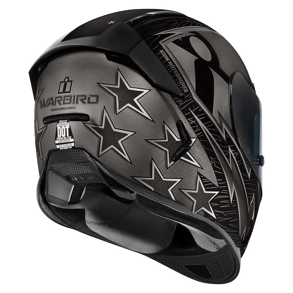 Warbird Black Helmets Icon Motosports Ride Among