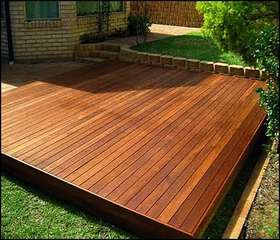 Backyard Patio · Simple Floating Deck Plans