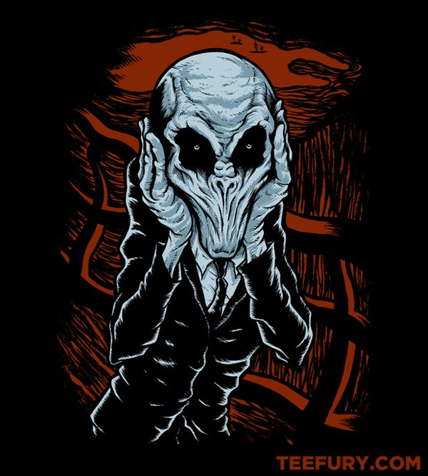 A Scream of Silence.   Another Doctor Who shirt on teefury.  Tempting.