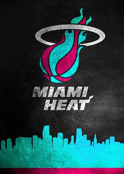 I Should Be Probably Productive At Work Instead Of Making Miami Heat Phone Wallpapers But It S Too Much Fun Here S Another One I Just Made Using The Logos From Nba Miami