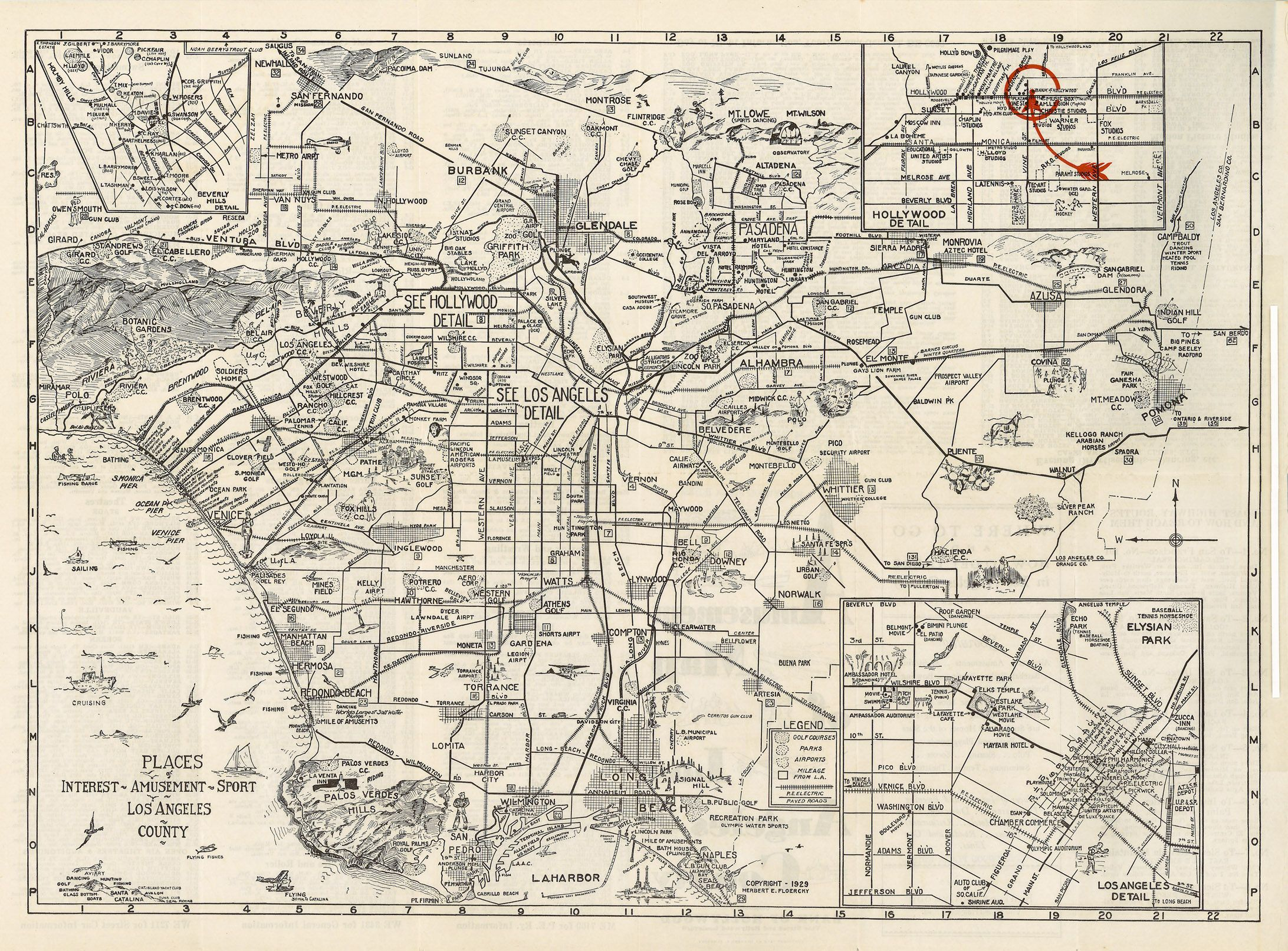 Map South Bay California A Vintage PhotoADs Collection - Los angeles county line map