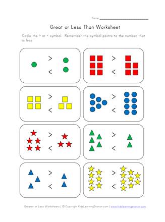 Easy Greater Less Worksheet Worksheets More And Less Addition And Subtraction Worksheets