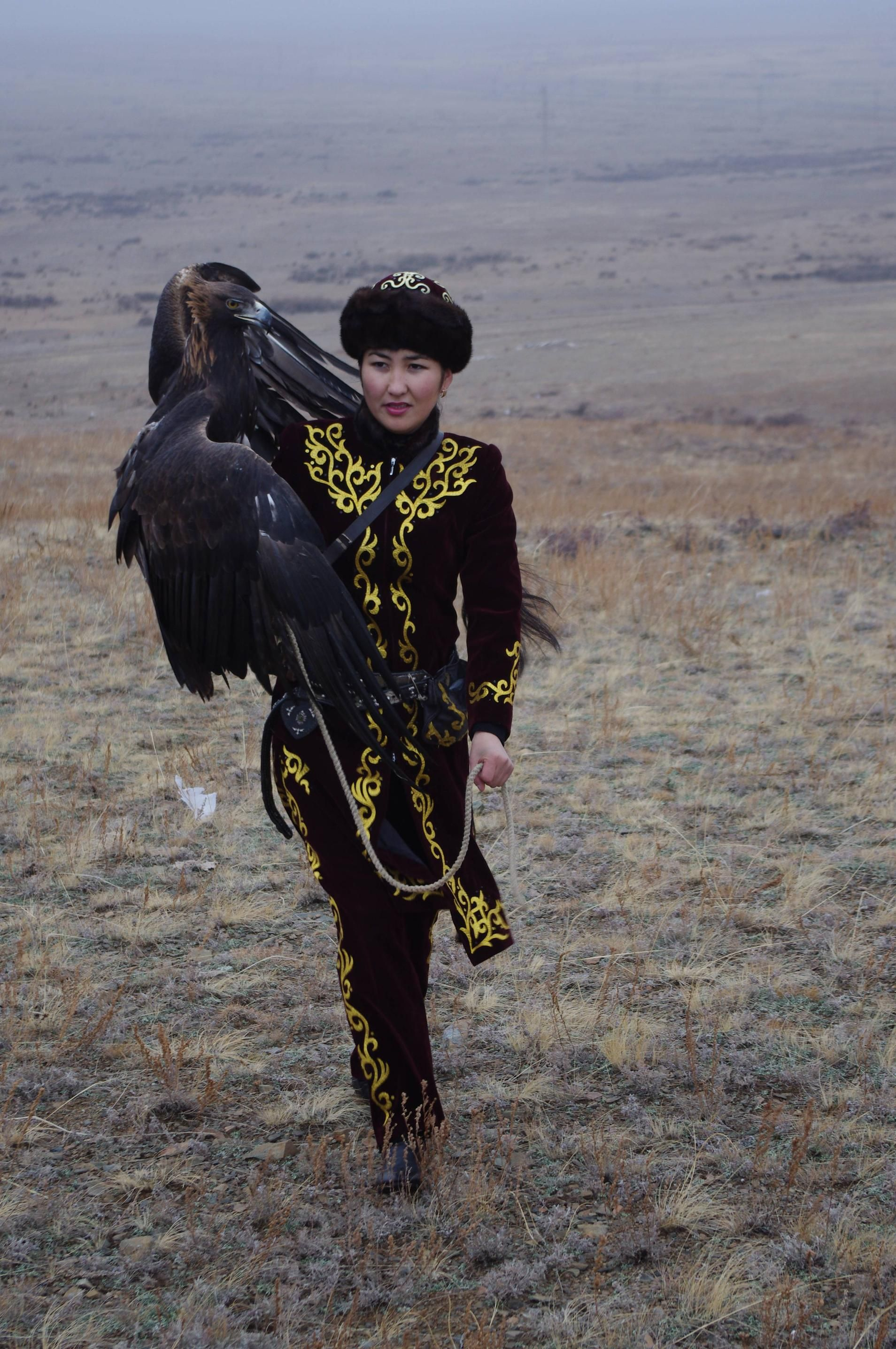 Bird [Makpal Abdrazakova, the only female eagle hunter in Kazakhstan.]