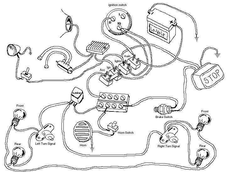 using a mag sporty with e start big twin honda 12v basic wiring cb evo chopper wiring diagram using a mag sporty with e start big twin honda 12v basic wiring cb 750