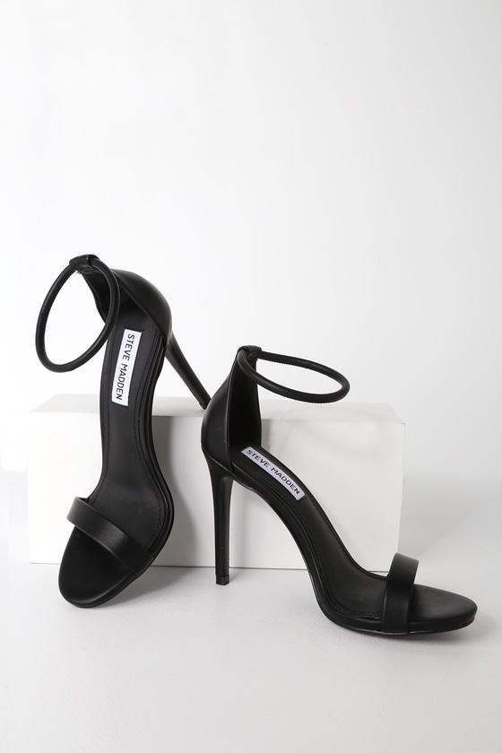 Soph Black Ankle Strap Heels | Ankle