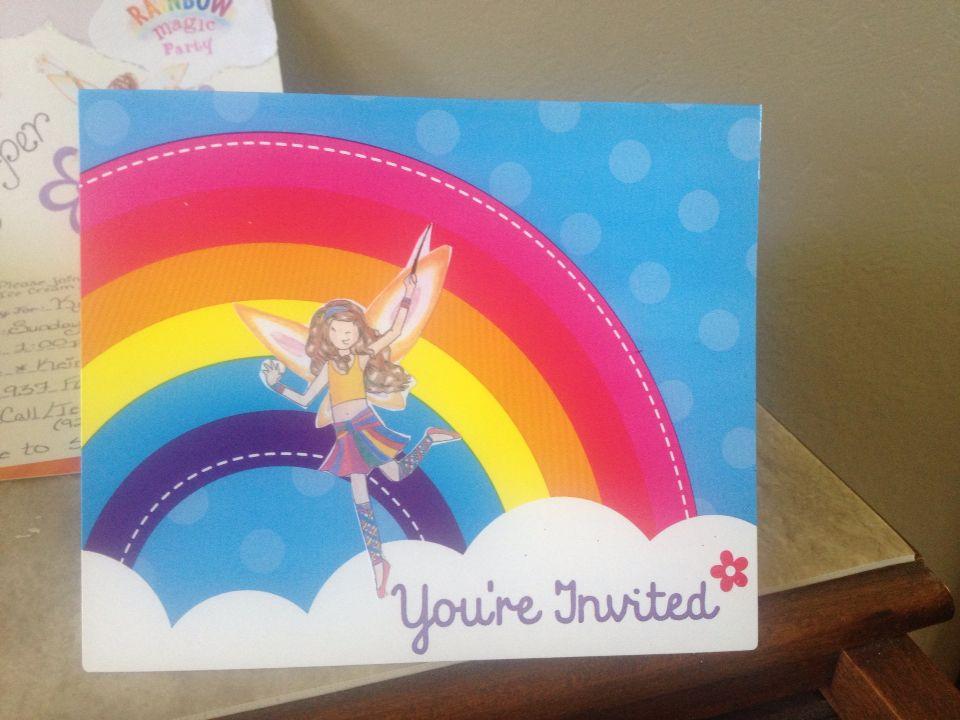 rainbow magic birthday party invitation diyused rainbow wishes party themed invites from