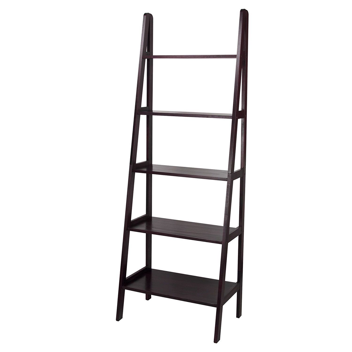 Casual Home 5 Shelf Ladder Bookcase White 176 51 Mit