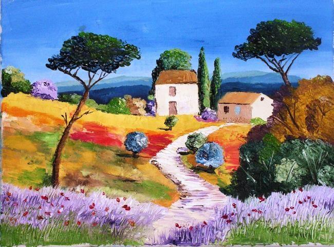 Aquarelle Paysages De Provence Recherche Google Paysage De