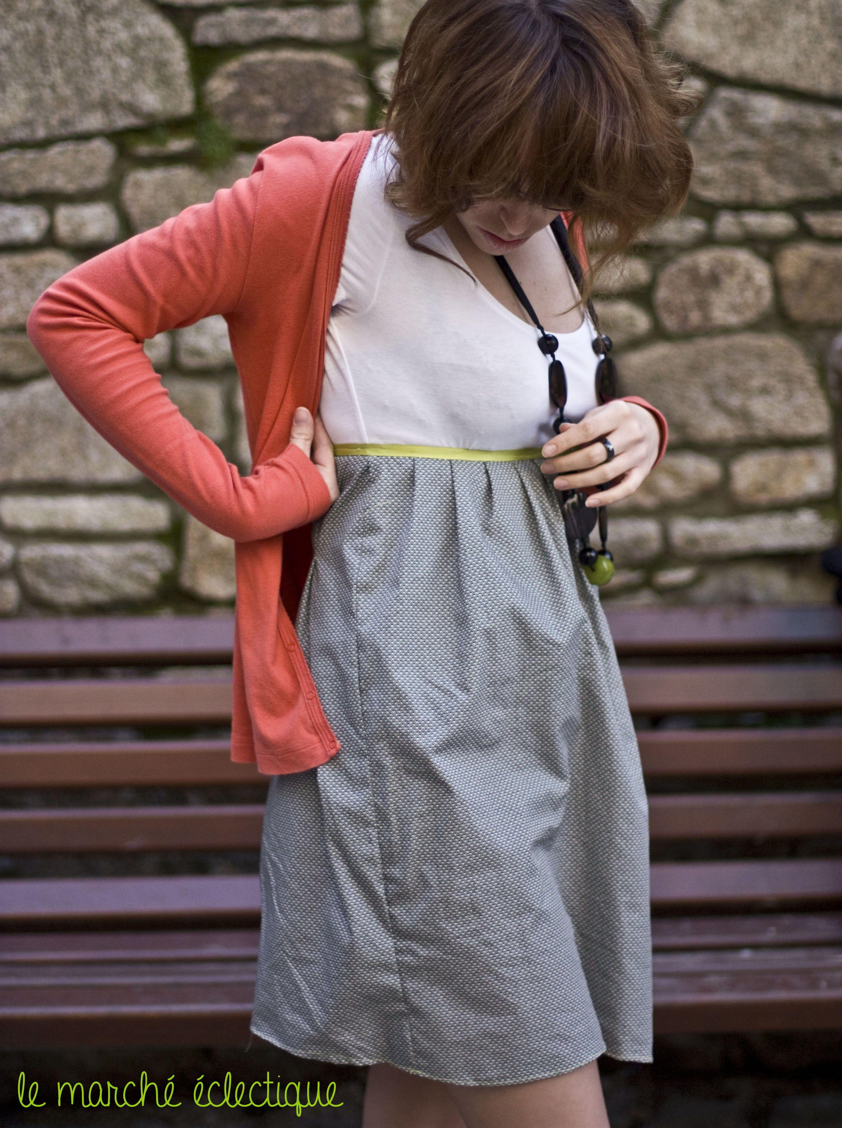 d6c985f8b4a7ab Diy robe facile (à partir d'un débardeur ou d'un tee-shirt ...