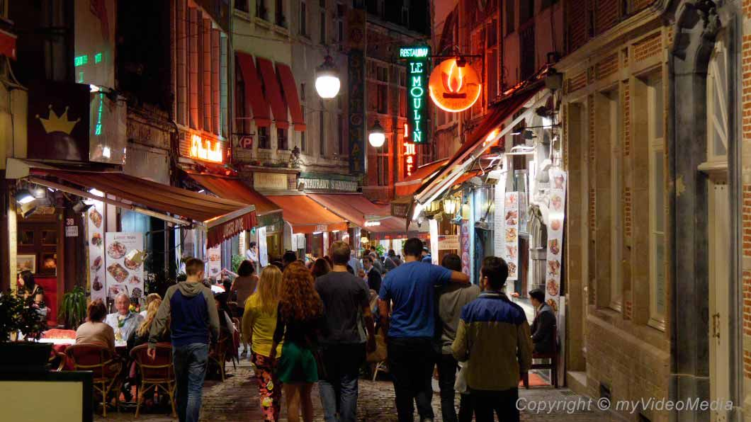 The city center of Brussels at night  #travelblog #4kvideo #brussels