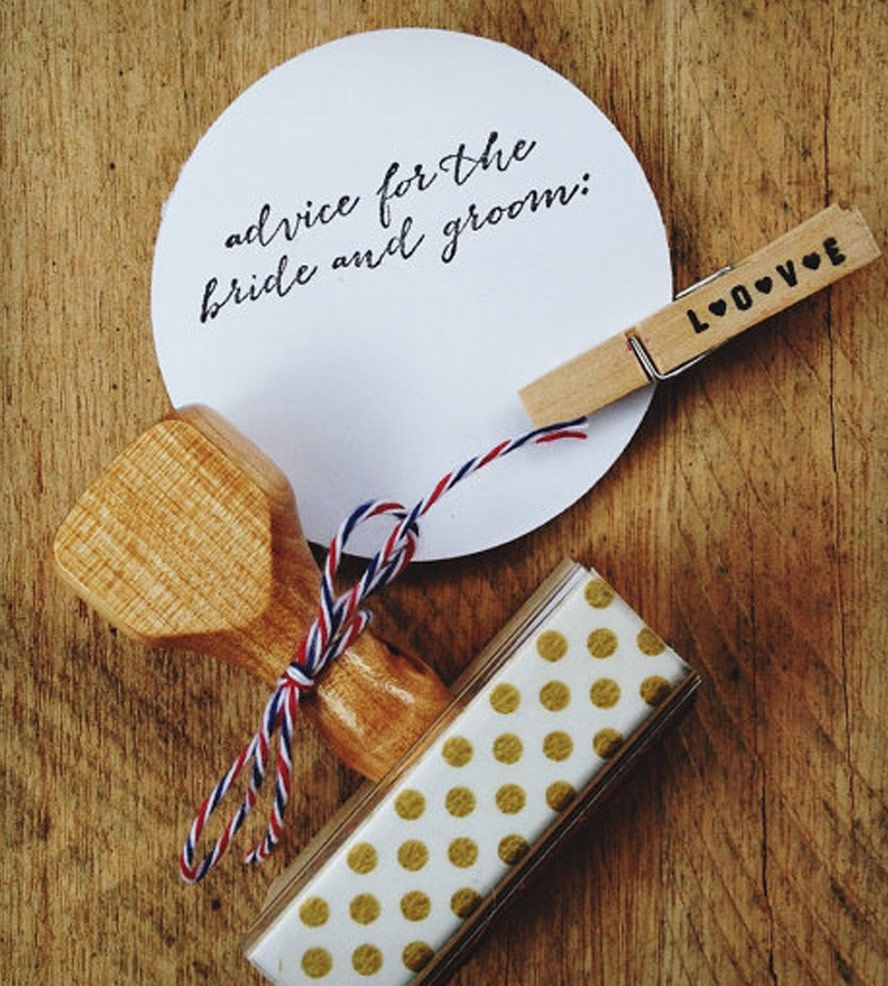 """""""Advice for the Bride and Groom"""" Stamp - Cursive 