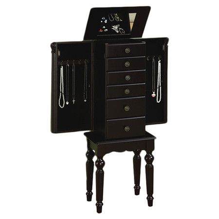 Found it at Wayfair - Jewelry Armoire in Antique Black