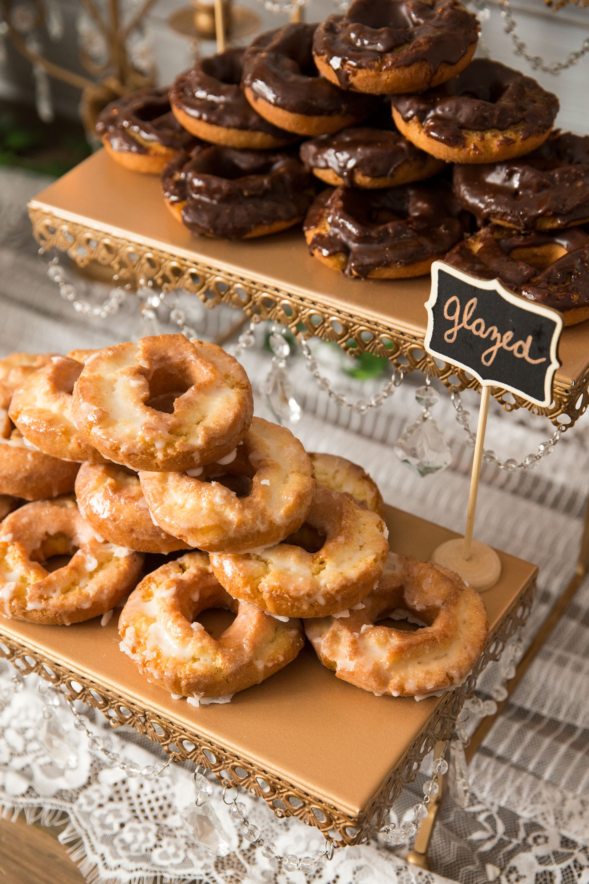Donut Display By Amalfi Decor 3 Tier Serving Platter In Gold Available At Amalfidecor Com Perfect For Donut Display Wedding Donuts Wedding Cupcake Display