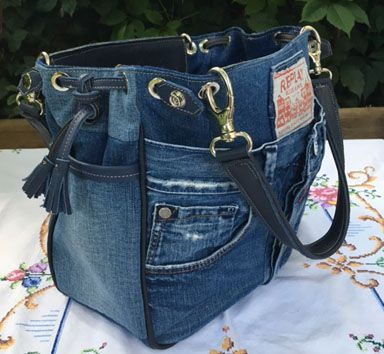 jeans taschen keine schnittmuster nur inspiration tasche pinterest jeans tasche jeans. Black Bedroom Furniture Sets. Home Design Ideas