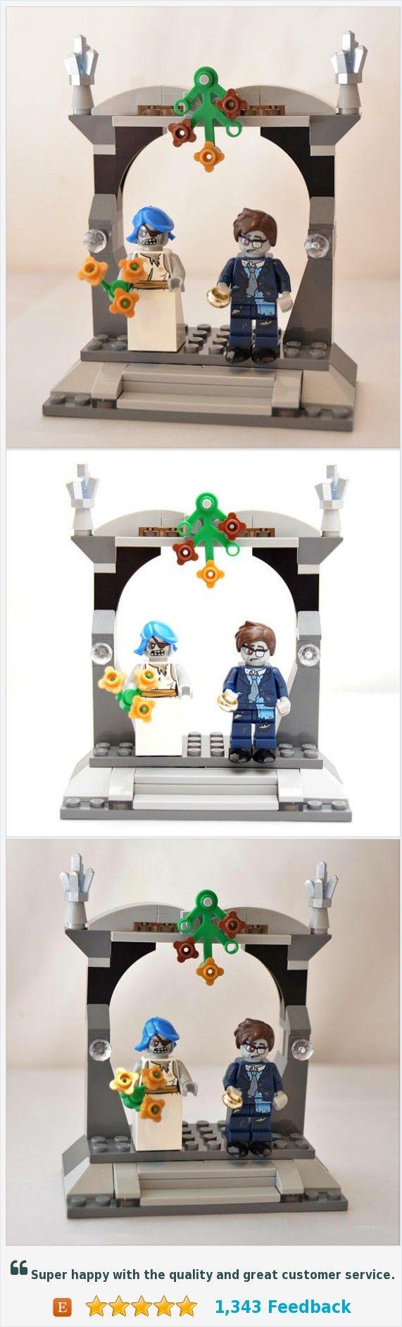 Custom Zombie Lego Minifigure Wedding Favors, Bridal Cake Topper ...