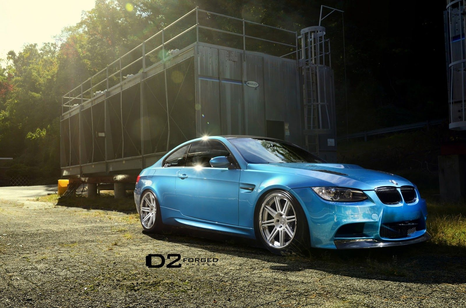 Bmw M3 In Individual Atlantis Blue Rolling On D2forged Deep