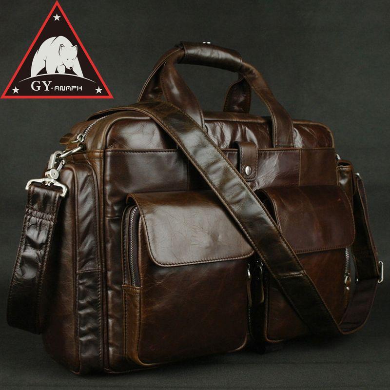 f2a8a0acc30e ANAPH Full Grain Leather Briefcases For Men