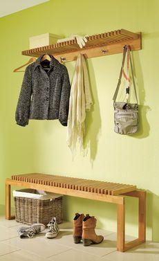 Garderobe Hakenleiste Und Sitzbank Everything Wood Pinterest