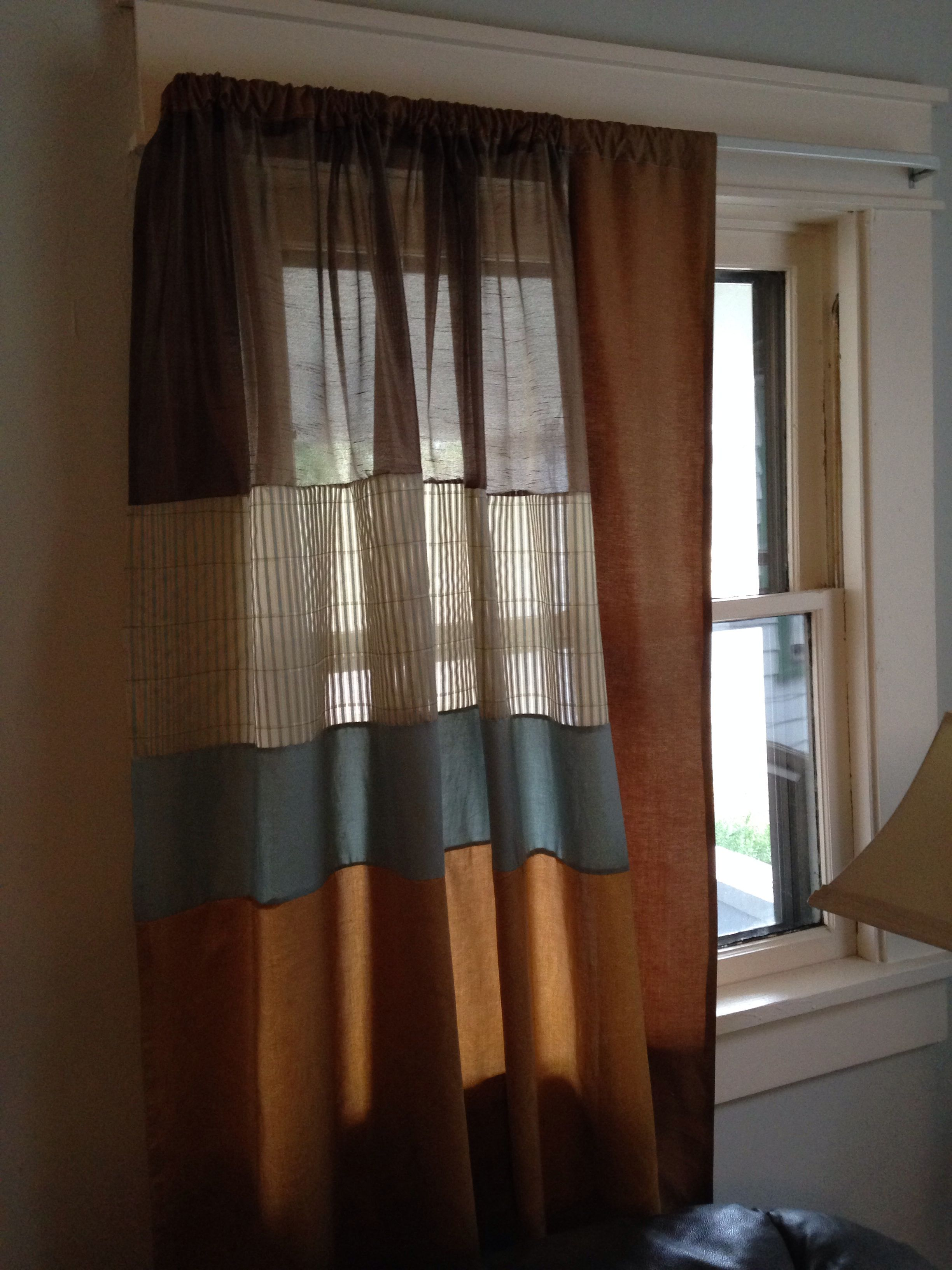 Curtains with different fabrics Home decor, Curtains, Home