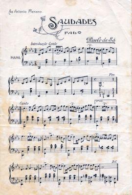 Saudade Fado Letras Partituras Musicas Folcloricas Saudade