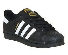 quality design c9fe0 ea105 Mujer Adidas Superstar Negro Blanco Zapatos Entrenadores De Fundación