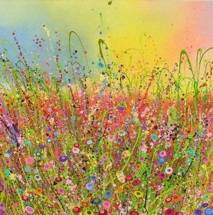Art gallery flower glitter art paintings