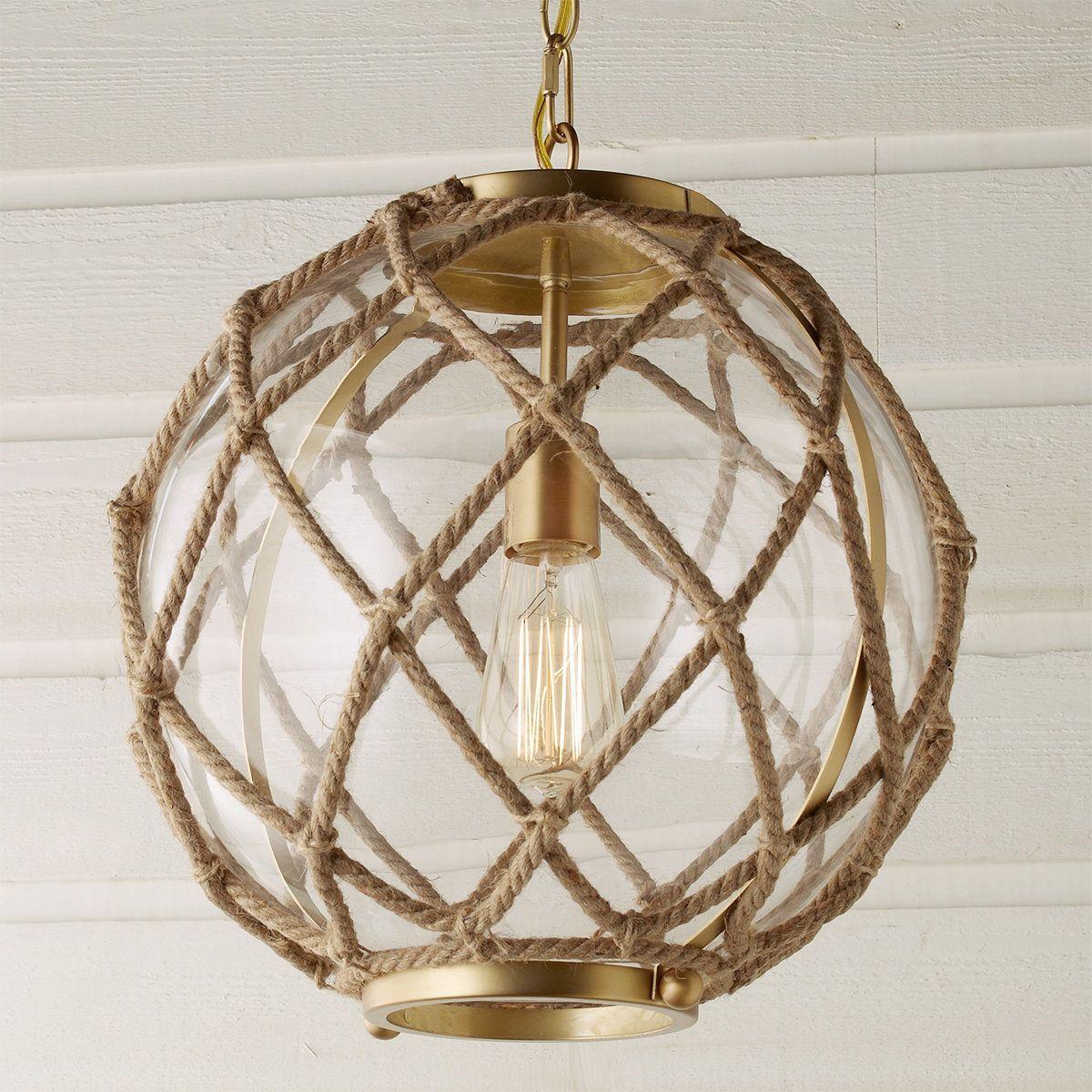 Jute Rope Globe Pendant Rope Pendant Light Ball Pendant Lighting Coastal Pendant Lighting