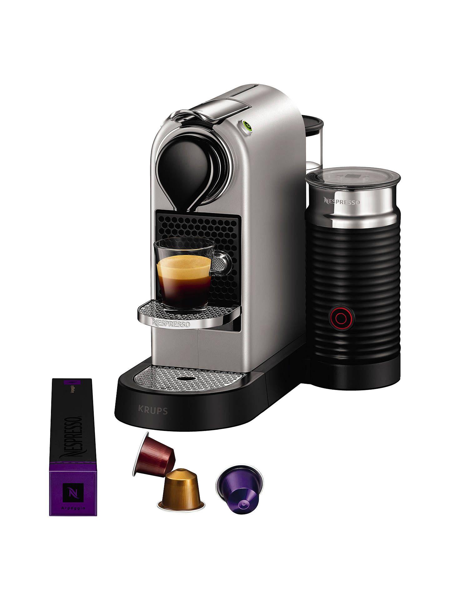 Nespresso CitiZ & Milk Coffee Machine by KRUPS with Milk