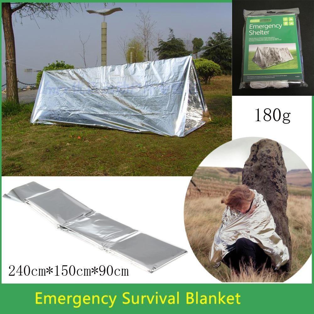 Sos Hunting Shelter Emergency Blanket C&ing Climbing Kit Survival Tool Tent Survival Gear Terbuka & Sos Hunting Shelter Emergency Blanket Camping Climbing Kit ...