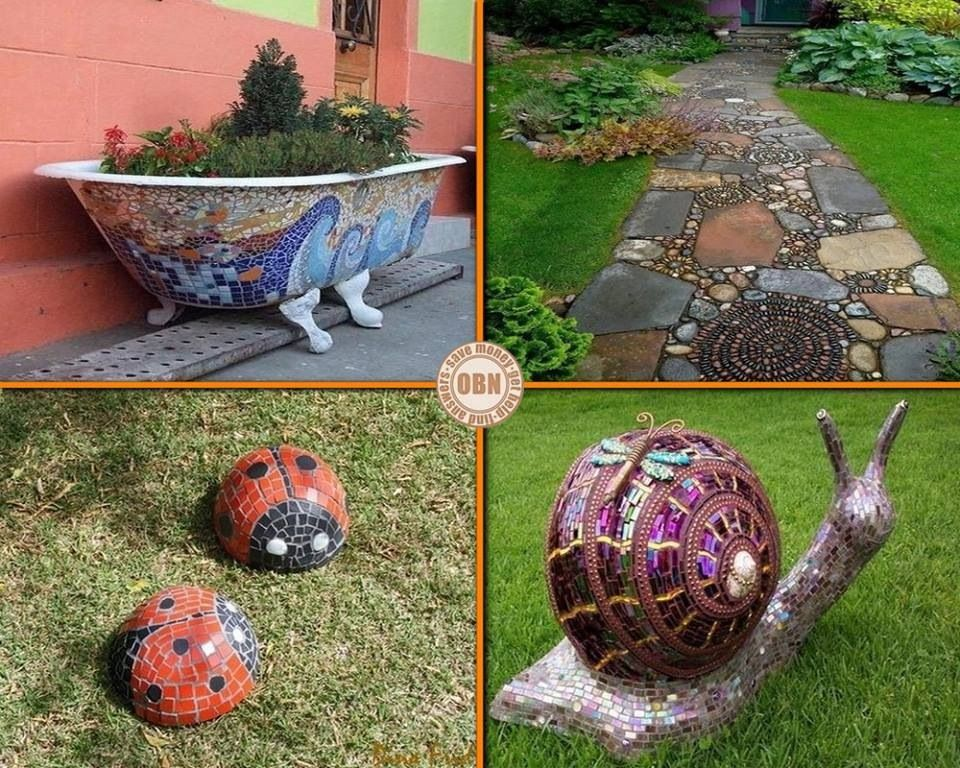 For the garden.   Beauty of the things I see.   Pinterest   Mosaics