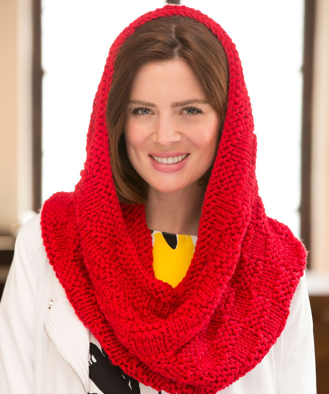 Candi\'s Checked Cowl Free Knitting Pattern from Red Heart Yarns ...