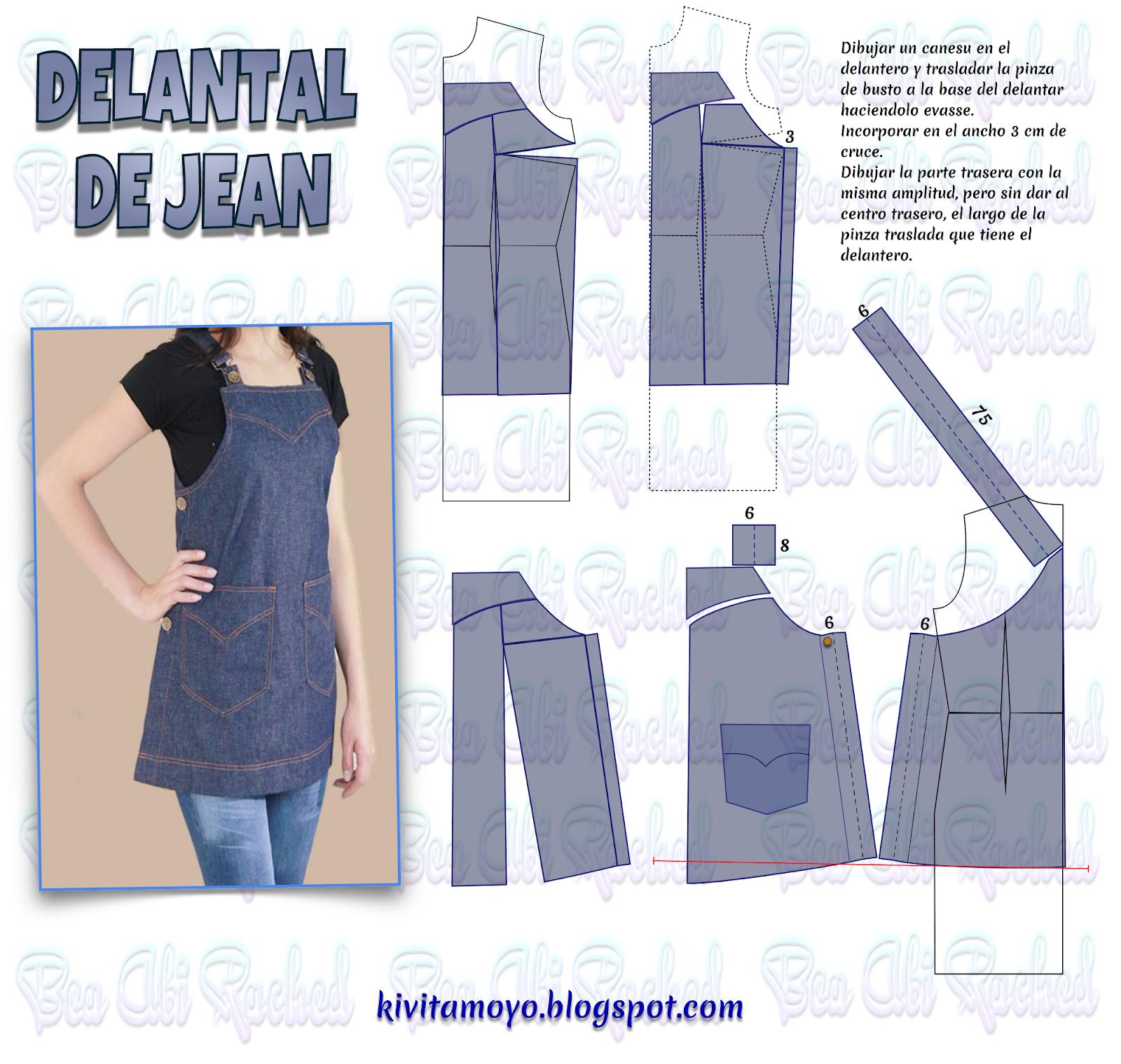 KiVita MoYo : DELANTAL DE JEAN | Infantiles | Pinterest | Delantales ...