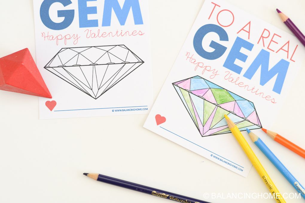 This fun printable can completely stand alone. It is meant to be a coloring sheet so a crayon/colored pencil makes a great addition. I have to admit, I'm partial to these crayon gems from Target! I attached my crayon with some Saran wrap, ribbon and a hole punch. We have a whole collection of super …