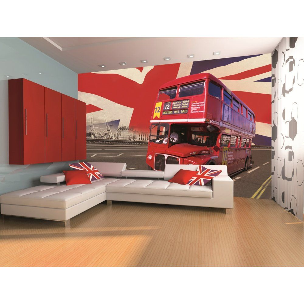 1 Wall London Bus Union Jack Wall Mural