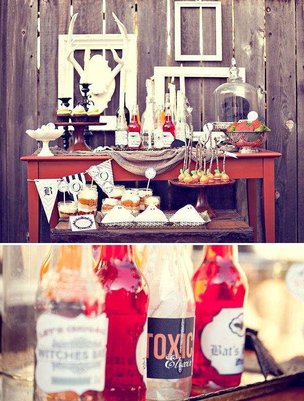 Rustic-Style \ - vintage halloween decorating ideas