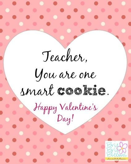 photo regarding Printable Valentine Card for Teacher referred to as Wise Cookie valentine for your instructor absolutely free printable card